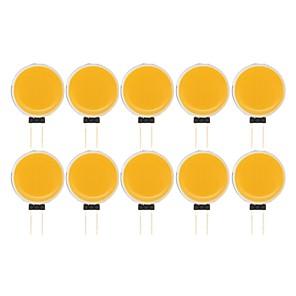 ieftine Spoturi LED-10pcs 7 W Becuri LED Bi-pin 290 lm G4 1 LED-uri de margele COB Model nou Decorativ Încântător Alb Cald Alb Rece 12 V