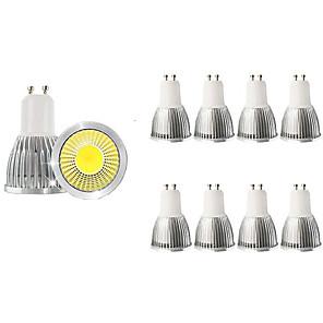 ieftine Spoturi LED-10pcs 5 W Spoturi LED 450 lm GU10 1 LED-uri de margele COB Decorativ Alb Cald Alb Rece 85-265 V