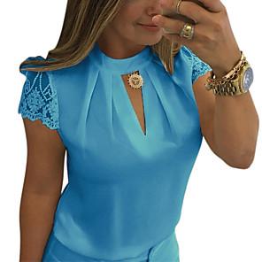 ieftine Produse Fard-Pentru femei Tricou De Bază - Mată Negru