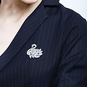 זול סיכות-בגדי ריקוד נשים תפס לשיער קלאסי ברבור אומנותי פאר אלגנטית קריסטל אוסטרי סִכָּה תכשיטים כסף עבור חתונה מתנה ארוסים עבודה הבטחה