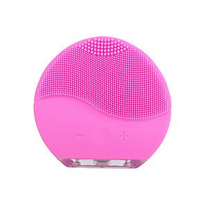 ieftine Dispozitiv de îngrijire a feței-ymy-04 perie de curățare facială vibrații electrice masaj piele perie de spălare cap negru remover poră curată perie de reîncărcare