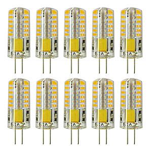 ieftine Becuri LED Corn-zdm 10buc g4 5w 3014 x 48 leduri cu lămpi cu lumină albă ac12v echivalente nemodificabile echivalente cu 20w-25w t3 halogen cu înlocuire becuri led