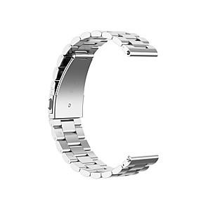 ieftine Accesorii Ceasuri-18/20/22/23 / 24mm bandă de ceasuri pentru ticwatch pro ticwatch / amazfit / samsung galaxy bijuterii design din oțel inoxidabil curea de încheietura mâinii