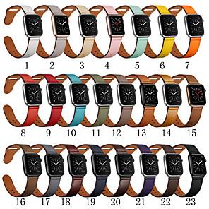 povoljno Apple Watch remeni-Pogledajte Band za Apple Watch Series 5/4/3/2/1 Apple Sportski remen Prava koža Traka za ruku