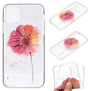 ieftine Becuri LED Corn-carcasă pentru apple iphone 11 / iphone 11 pro / iphone 11 pro max ultra-subțire / transparent / model copertă din spate floare tpu moale