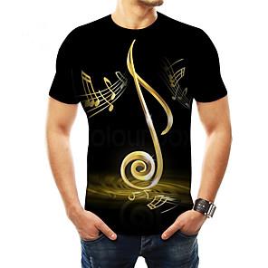 ieftine Inele-Bărbați Tricou De Bază - #D Imprimeu Negru