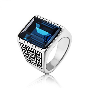 povoljno Prstenje-Muškarci Band Ring Prsten 1pc Crn Zelen Crvena Titanium Steel Cirkularno Vintage Osnovni Moda Dnevno Jewelry