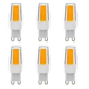 ieftine Audio & Video-6pcs 5 W Becuri LED Bi-pin 500 lm G9 T 1 LED-uri de margele COB Intensitate Luminoasă Reglabilă Model nou Alb Cald Alb 220-240 V