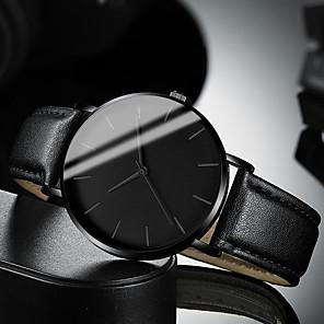 ieftine Ceasuri Bărbați-Bărbați Ceas Elegant Quartz Stil modern Stl Piele Negru / Maro 30 m Rezistent la Apă Ceas Casual Cool Analog Casual Modă - Negru Alb Maro Un an Durată de Viaţă Baterie