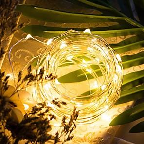 baratos Fitas e Mangueiras de LED-LOENDE 5m Cordões de Luzes 50 LEDs Branco Quente / RGB / Branco Festa / Decorativa / Casamento Baterias alimentadas