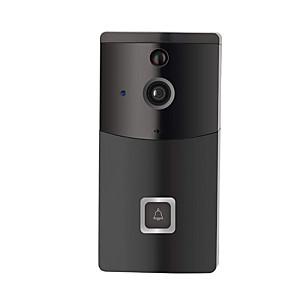 ieftine Switch inteligent-wifi inteligent video sonerie ușă aplicație de telefon mobil vizualizare la distanță interfon video fără baterie& amp; card tf