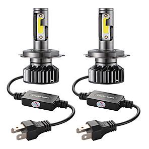 ieftine Faruri de Mașină-2 buc mini auto led bec far h4 / hb2 / 9003 hi / lo 72w 10000lm 6000k faruri auto înlocuire becuri de ceață auto 12v