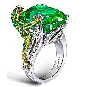 ieftine Inele-Pentru femei Inel 1 buc Verde Diamante Artificiale Aliaj Neregulat Vintage La modă Corean Zilnic Bijuterii Stil Vintage Norocos