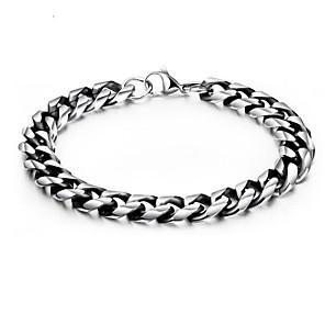 ieftine Brățări-Bărbați Brățări cu Lanț & Legături Geometric Vertical Stilat Oțel titan Bijuterii brățară Argintiu Pentru Zilnic