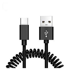ieftine Întrerupătoare-Tip C Cablu 1.0m (3ft) Retractabil / Înaltă Viteză / Rapidă încărcare PVC Adaptor pentru cablu USB Pentru Macbook / Samsung / Huawei