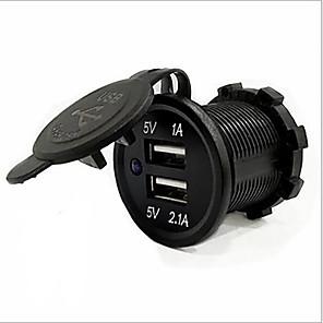 ieftine Spoturi LED-5v 3.1a usb port dublu încărcător auto rezistent la apă încărcare rapidă priză pentru ipad iphone mașină motocicletă barcă telefoane mobile led