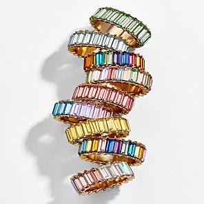 ieftine Inele-Pentru femei Inel Zirconiu Cubic 1 buc Alb Mov Maro deschis Aliaj Simplu European La modă Zilnic Stradă Bijuterii Geometric Cool