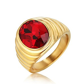 povoljno Prstenje-Muškarci Prsten 1pc Crn Zelen Crvena Titanium Steel Cirkularno Vintage Osnovni Moda Dnevno Jewelry