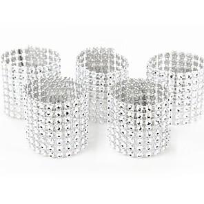 ieftine Fețe de masă-10 buc bucată de argint șervețel inel scaune catarame eveniment de nunta decorare meșteșuguri arcuri din sticlă suporturi handmade petreceri