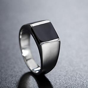 povoljno Prstenje-Muškarci Band Ring Prsten 1pc Srebro Titanium Steel Cirkularno Vintage Osnovni Moda Dnevno Jewelry