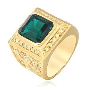 povoljno Prstenje-Muškarci Band Ring Prsten 1pc Zelen Crvena Plava Titanium Steel Cirkularno Vintage Osnovni Moda Dnevno Jewelry