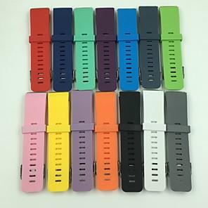 Недорогие Ремешки для спортивных часов-Ремешок для часов для Fitbit Blaze Fitbit Классическая застежка силиконовый Повязка на запястье
