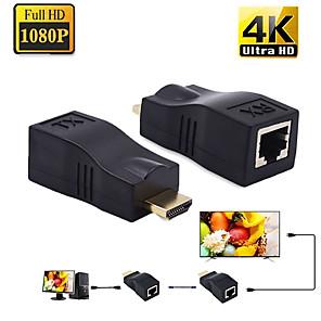 ieftine HDMI-4k porturi HDD Extender mini rj45 la 30 m HDMI peste cat 5e / 6 utp lan ethernet convertor de cablu pentru HDD
