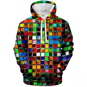 povoljno Muške majice s kapuljačom i trenirke-Muškarci Ležerne prilike Hoodie Color block S kapuljačom