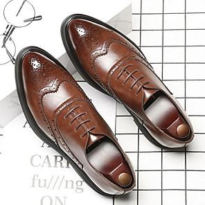 olcso Férfi órák-Férfi Bullock cipő Mikroszálas Nyár Félcipők Légáteresztő Fekete / Barna