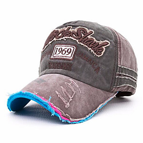 ieftine Masca-Pălării Bărbați Rezistent la Ultraviolete pentru Sporturi de Agrement Literă & Număr Bumbac Primăvară Vară Toamnă / Iarnă
