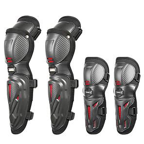 Недорогие Средства индивидуальной защиты-мотокросс локоть колено защитные накладки / 4шт регулируемые наколенники протектор локоть броня для мотоцикла велосипед / езда на велосипеде / гонки / лыжи / катание на роликах