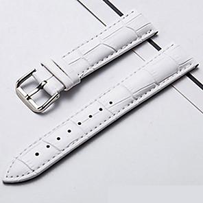 hesapli Saat Kordonları-Gerçek Deri / Deri / Buzağı Tüyü Watch Band Beyaz / Mavi / Kırmızı Diğer / 20cm / 7.9 İnç 1.3cm / 0.5 İnç / 1.4cm / 0.55 İnç / 1.5cm / 0.6 İnç
