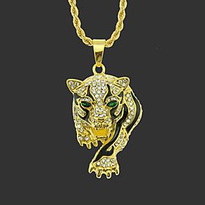 povoljno Ženski satovi-Muškarci Ogrlice s privjeskom Duga ogrlica Klasičan Tigar Jedinstven dizajn Moda Pozlaćeni Krom Zlato Srebro Sokol Zlatni leopard Srebrni leopard 75 cm Ogrlice Jewelry 1pc Za Ulica