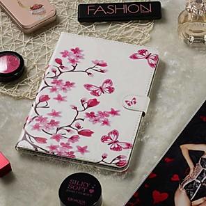 povoljno Maske/futrole za Xiaomi-podesiva futrola za samsung galaxy / acer / asus univerzalni novčanik / držač za karticu / s postoljem futrole za cijelo tijelo leptir ljubav cvijet pu koža 8-8.9 inča