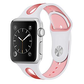 Недорогие Ремешки для Apple Watch-Ремешок для часов для Apple Watch Series 4/3/2/1 Apple Спортивный ремешок силиконовый Повязка на запястье
