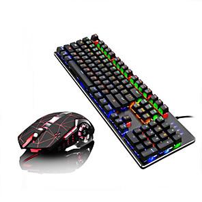 povoljno Tipkovnica i miš-LITBest Q1Stars USB žičani Tipkovnica miša kombinirana Prijelaz boje / pozadinskim osvjetljenjem Mehanička tipkovnica / gaming tipkovnica Igranje / mehanički igraći miš 2400 dpi