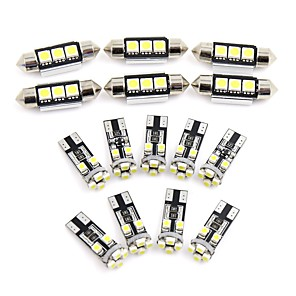 ieftine Lumini de Interior Mașină-15pcs car white dome auto reading led interior interior pentru audi q5 (8r) 2009-2012 canbus
