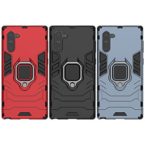 Недорогие Защитные плёнки для экранов Samsung-Кейс для Назначение SSamsung Galaxy S9 / S9 Plus / S8 Plus Защита от удара / Кольца-держатели Кейс на заднюю панель Однотонный ПК
