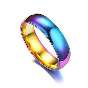 ieftine Inele-Bărbați Pentru femei Band Ring Inel Tail Ring 1 buc Curcubeu Teak Circular Vintage De Bază Modă Zilnic Bijuterii