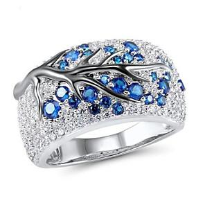 ieftine Cabluri de Adaptor AC & Curent-Pentru femei Inel 1 buc Albastru Diamante Artificiale Aliaj Neregulat Vintage Corean Modă Zilnic Bijuterii Stil Vintage Norocos