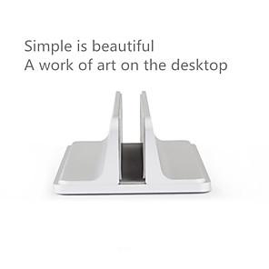 billige USB-gadgeter-aluminiumslegering brakett bokhylle vertikalt lagringsstativ for bærbar bærbar PC-holderholder