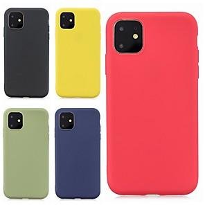 povoljno iPhone maske-futrola za jabuke iphone 11 / iphone 11 pro / iphone 11 pro max ultra tanka / smrznuta stražnja navlaka u boji pune boje tpu soft