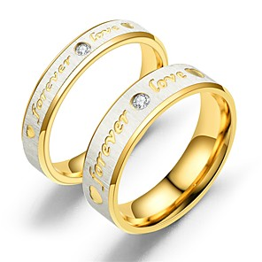 ieftine Inele Cuplu-Pentru cupluri Inele Cuplu Inel 1 buc Roz auriu Auriu Teak Circular Vintage De Bază Modă Promisiune Bijuterii Inimă Heart