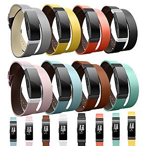 お買い得  LED スポットライト-時計バンド のために Fitbit Inspire HR / Fitbitインスパイア Fitbit クラシックバックル 本革 リストストラップ