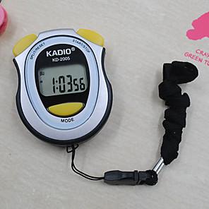 ieftine Spoturi LED-Bărbați Pentru femei Ceas Sport Cronometru Piloane de Menținut Carnea Negru Nu Cronograf Model nou Cronometru Piloane de Menținut Carnea Exterior O noua sosire - Negru Un an Durată de Viaţă Baterie