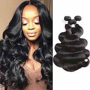ieftine Manete RGB-3 pachete Păr Brazilian Stil Ondulat Păr Virgin 100% pachete Remy Hair Weave Wig Accessories Accesoriu de Păr Umane tesaturi de par 8-28 inch Culoare naturală Umane Țesăturile de par Fără miros sexy