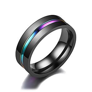 ieftine Cercei-Bărbați Band Ring Inel Tail Ring 1 buc Negru Teak Circular Vintage De Bază Modă Zilnic Bijuterii