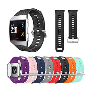Недорогие Ремешки для спортивных часов-ремешок для часов для фитбита fitbit ionic fitbit / классический силиконовый ремешок с пряжкой