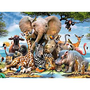 ieftine Puzzle-1000 pcs Elefant Pasăre Castel Puzzle Puzzle pentru adulți Jumbo De lemn Adulți Jucarii Cadou