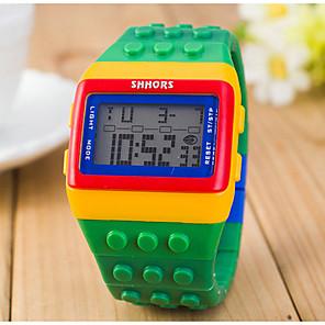 ieftine Imbracaminte & Accesorii Căței-Pentru femei femei Ceas digital Piața de ceas Piloane de Menținut Carnea Alarmă Calendar Cronograf Piloane de Menținut Carnea Prăjit Modă Lemn - Galben Rosu Doi ani Durată de Viaţă Baterie / LCD
